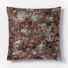 Watercolor Tapestry Pillow Cover - Burgundy Multi | west elm