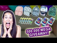 500.000 ABONNEES - MEGA BACK TO SCHOOL GIVEAWAY! || MeisjeDjamila - YouTube