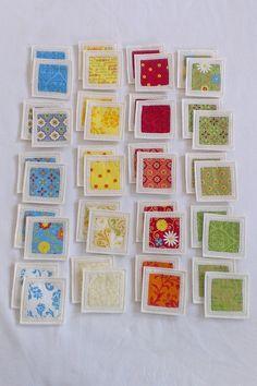 Felt Fabric Memory Game Bright Colors MINI. $30.00, via Etsy.