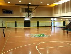 I have been thinking about learning how to play volley ball. It would be nice to learn on an indoor court like this one. That way, it will be easier to get used to the footwork. Basketball Tricks, Basketball Workouts, Basketball Skills, Indoor Basketball Court, Basketball Plays, Basketball Academy, Basketball Hoop, How To Play Tennis, Volleyball Net
