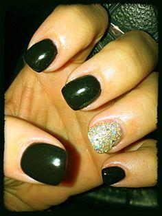 New Years Nails shellac OPI LOVE MY NAILS