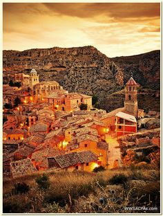 Sunset in Albarracin, Teruel, Spain  by John Wood.
