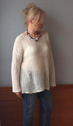 Your place to buy and sell all things handmade Natural Clothing, Sweater Making, Natural Linen, Etsy Handmade, Plus Size Outfits, Hand Knitting, Knitwear, Clothes For Women, Small Shops
