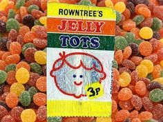"""""""Rowntrees Jelly Tots soft and sweet. Rowntrees Jelly Tots good to eat. Lots of Jelly Tots in the Jelly Tots bag! Old Sweets, Vintage Sweets, Retro Sweets, Vintage Toys, Retro Vintage, 1980s Childhood, My Childhood Memories, Sweet Memories, Old Fashioned Sweets"""