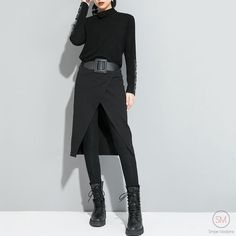 Punk, Leggings, Moda Chic, Dark Fashion, Winter Looks, Winter Outfits, Winter Clothes, All Black Everything, Casual Wear