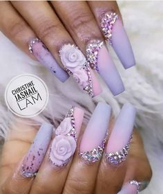 We like unique and attractive matte nails. Matte nails can be paired with clothes of any color. Matte nails can be used in many colors and can be easily applied to fingers. Purple Nails, Matte Nails, Pastel Purple, 3d Acrylic Nails, 3d Nail Art, Blush Pink, Trendy Nail Art, Stylish Nails, Get Nails
