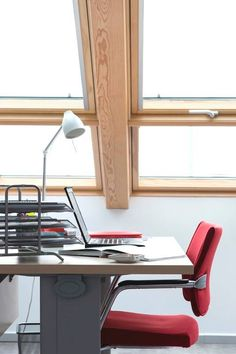 Add VELUX pine finish roof windows to your office or public building to add more natural light and invigorate the inside environment.
