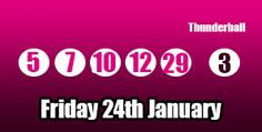 Sadly we see no #thunderball jackpot winners for this draw, or the week so far, but there are plenty of second tier winners: http://thunderballresults.org/thunderball-results-24th-january/ #lottery