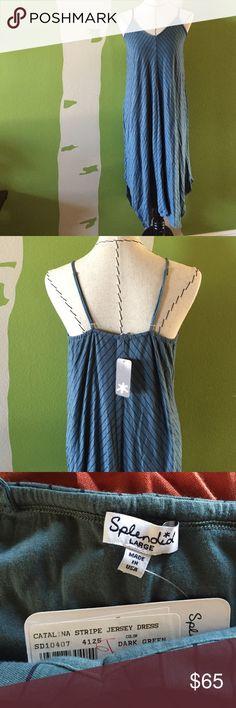 Splendid Catalina stripe jersey dress, size L, NWT Splendid Catalina stripe jersey dress, size L, NWT! Splendid Dresses Midi