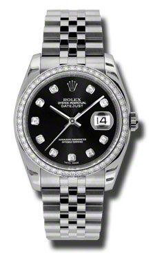 116244 bkdj Rolex Datejust 36mm de Oro Blanco Acero Dia Bisel Jublilee