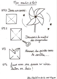 DIY Moulin à vent - alice. Diy Bebe, Diy Invitations, Le Moulin, Diy For Girls, Home Decor Styles, Baby Shower Decorations, Origami, About Me Blog, Spring Tutorial
