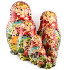 """Matryoshka """"Repka"""" (fairytales)    FromRussia.com"""