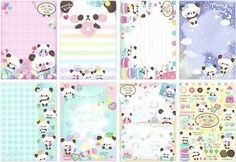 colorful panda sweet dessert block Note Pad by Q-Lia 3