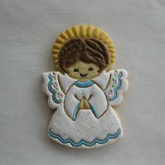 Angel Sugar Cookie Christmas Sugar Cookies, Christmas Treats, Gingerbread Cookies, Yummy Cookies, Cake Cookies, Angel Cookies, Cookie Decorating, Decorating Ideas, Christmas Angels