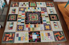"I have something to share today which will hopefully inspire you to save a few more ""scraps"" from the trash bin.  I am ready to share the first finish from my series of quilts made from orphan blocks."