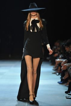 YSL Runway - Paris Fashion Week Womenswear Spring / Summer 2013  Similar to AHS season 3 teaser trailer wardrobe!