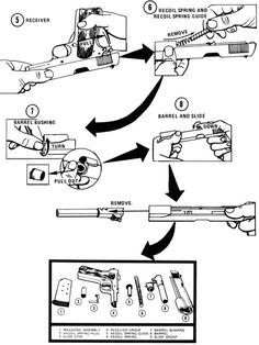 Cleaning the Caliber  45 Pistol | Pistol | Guns, 45 caliber