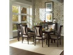 7pc Kensington Dining Room Table Set http://www.maxfurniture.com/dining/dining-sets/7pc-kensington-dining-room-set-by-aspen.html