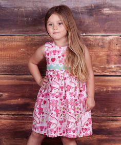 Pink Pugs & Kisses Heart Dress - Infant & Girls