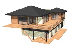 Home April 02 2020 at Casas The Sims 4, Hillside House, House On Stilts, Architectural Design House Plans, Sims House, Stone Houses, Wooden House, Modern House Plans, My Dream Home