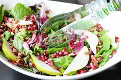 Healthy Pear and Pomegranate Salad