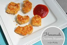Healthy Homemade Chicken Nuggets | View From The Fridge