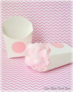 Cotton Candy Favor Box - Treat Box - French Fry Box - PINK -  Favor Boxes - Wedding Boxes - Chalkboard Labels - Popcorn Box - Set of 12