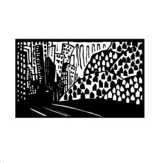 city / houses - a woodcut print by Chris Plummer by cplummerart on Etsy https://www.etsy.com/transaction/1108932120
