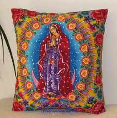 Our Lady of Guadalupe Pillow - Virgin Mary Pillow