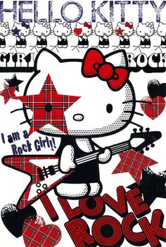 Hello Kitty rock AD postcard