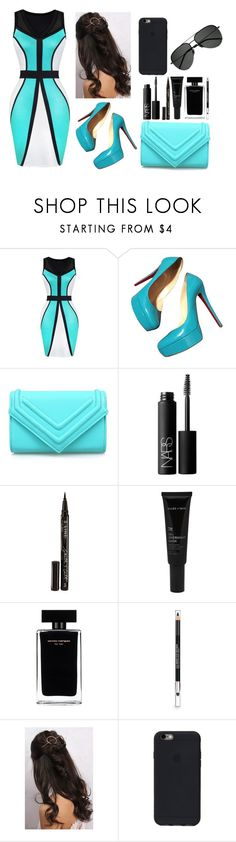 """Untitled #16"" by danazena ❤ liked on Polyvore featuring Christian Louboutin, NARS Cosmetics, Smith & Cult, Allies of Skin, Narciso Rodriguez, The Body Shop, Rare London and Yves Saint Laurent"