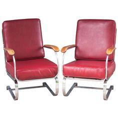 A Pair of Kem Weber Springer Chairs ca1935