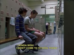this show just perfectly describes high school