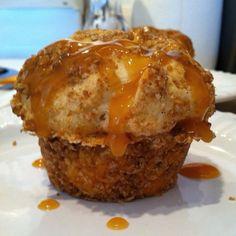 Caramel apple muffin, a friend's original recipe...Yum!