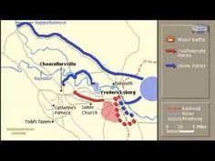 BATTL OF CHANCELLORSVILLE ANIMATION ON A MAP