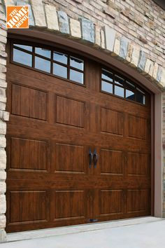 New garage doors are an easy way to completely transform the exterior of your home. We've got a wide selection of stylish garage doors to make your home feel brand new. Learn more at The Home Depot. home decor Garage Door Trim, Single Garage Door, Garage Door Design, Garage House, My House, Garage Doors, Linden Homes, Gates, Home Improvement Loans