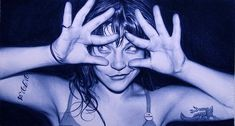 Spanish artist Juan Francisco Casas uses ballpoint pens to create huge, intricate photorealistic portraits of the women in his life. You can see tons more of his fantastic work at Hypemuch.