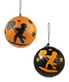 Halloween Child Silhouette Ball Ornaments