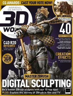 Thrilled to share my work which will be featuring on the cover of WORLD MAGAZINE November 2018 Issue 239 with my interview and few quick zbrush tips inside. Also as a ZBRUSH 2018 PIXOLOGIC advertisement in 3 top magazine. world, artist Imagine Hanuman Hd Wallpaper, Lord Hanuman Wallpapers, Hanuman Photos, Hanuman Images, My Dad My Hero, Digital Sculpting, Picsart Background, Cg Artist, Digital Magazine