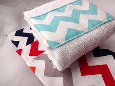 Custom Chevron Bathroom hand towel Red Navy Aqua by AugustAve, $8.00