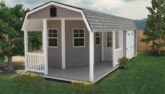 Shed Conversion Ideas, Shed Floor Plans, Shed With Porch, Garden Tool Shed, Garden Sheds, Porch Styles, Custom Sheds, Tree House Plans, Shed To Tiny House