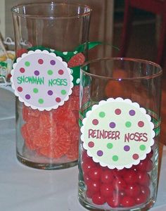 christmas parties, birthday parti, winter onederland, snowman christma, candi, jar labels, christma parti, designer bags, candy jars