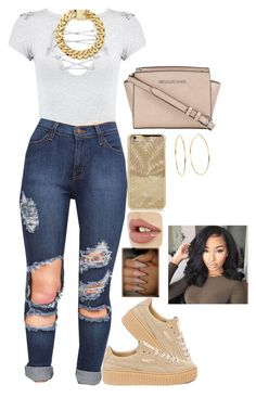 """Untitled #524"" by bosslanaia on Polyvore featuring Boohoo, Puma, MICHAEL Michael Kors and Lauren Ralph Lauren"