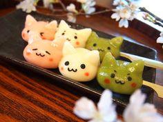 トモ@4/23池袋カフェ12時〜16時 @tomos0105  4月3日 桜も満開ですっかり春ですね(*´∀`*)というわけで「お花見にゃんご3兄弟」作ってみました!白玉粉+お豆腐+牛乳でつるつるもっちもち!レシピもあるよ♪ http://fta7.jp/nyango