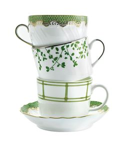 spring cups, so much prettier than a matched set.