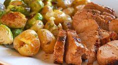 Le filet de porc, un classique... Proposé autrement mais toujours aussi bon! Accompagné de quelques pommes de terre rôties et de vos légumes préférés.