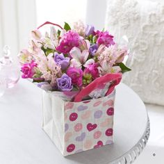 #Flowers in a beautiful reusable bag for #Mother's Day