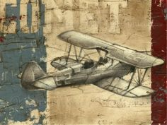 Vintage Aircraft I -  a wall mural