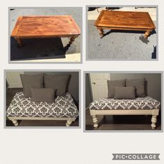 Refurbished Furniture, Repurposed Furniture, Painted Furniture, Simple Apartment Decor, Diy Home Decor, Room Decor, Diy Projects Bathroom, Diy Ottoman, Diy Furniture Hacks