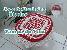 "Parte Interna da Tampa do Vaso ""Jogo de Banheiro Bicolor"" - YouTube"